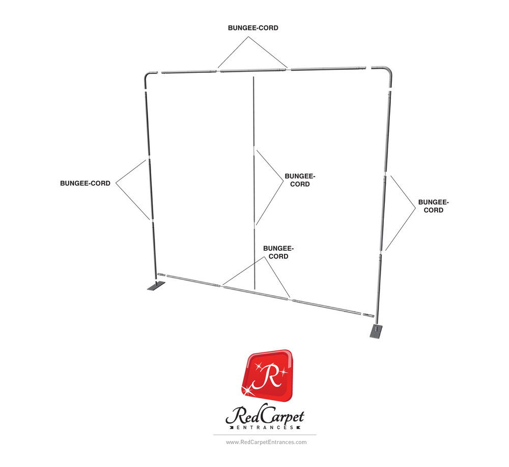 step and repeat 8x8 banner stand