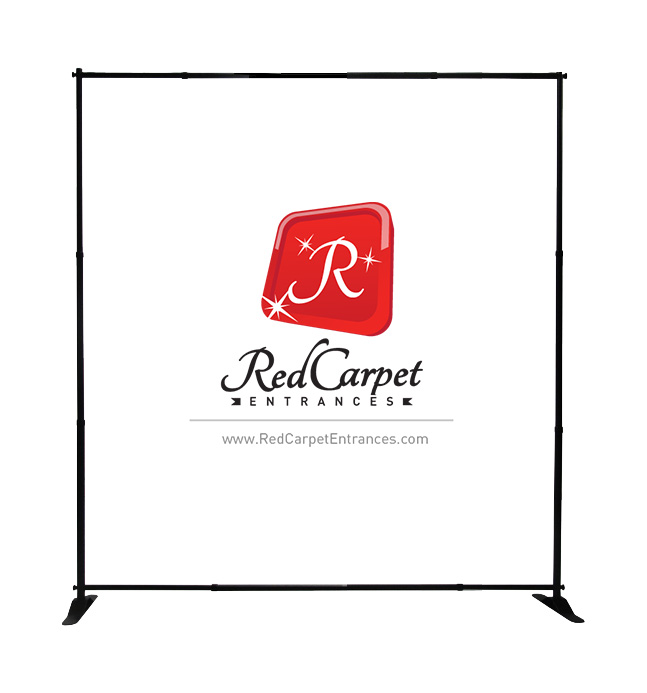 step and repeat adjustable banner stand 10x8
