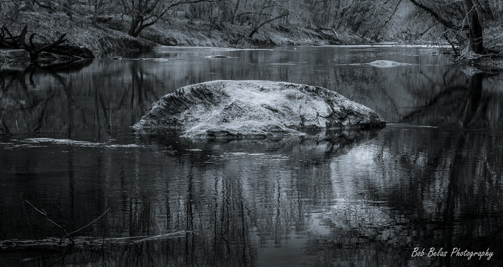 River Rock, monochrome