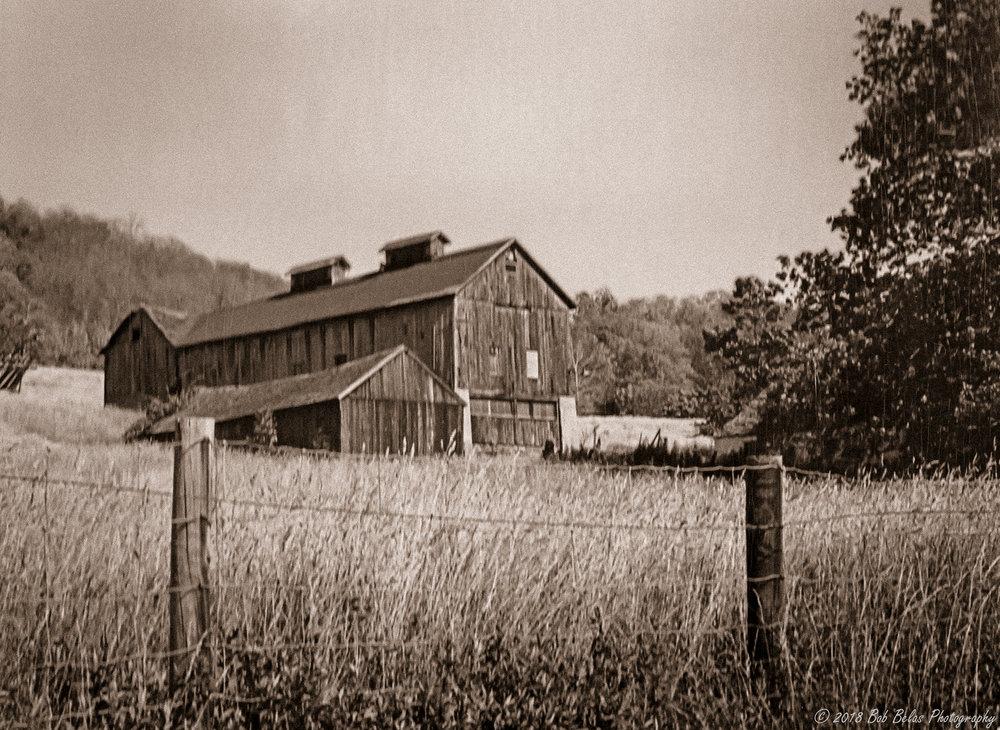 The Old Barn, monochrome