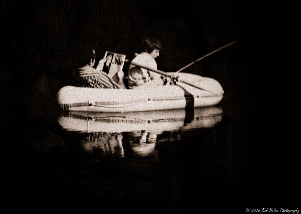 Sunday On The Pond, monochrome
