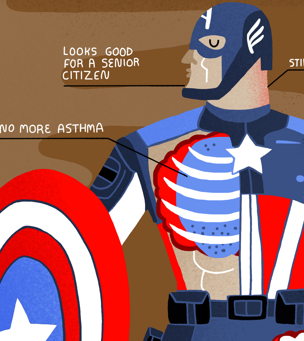 FANDANGO: AVENGERS ANATOMY New illustrations to promote Avengers: Age of Ultron movie. See the whole thing atFandnago.com
