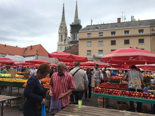 Farmers Market in Zagreb, Croatia