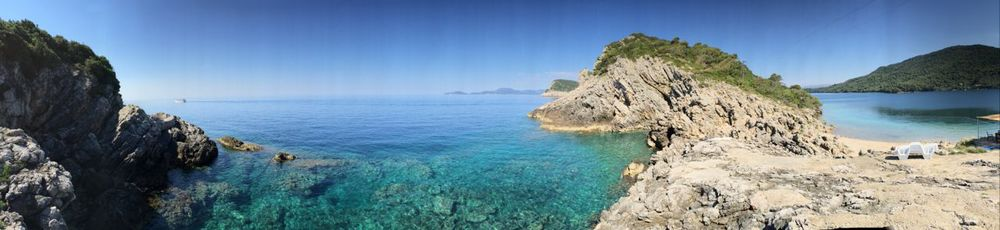 The clear waters around the island of Sipan, Croatian coast
