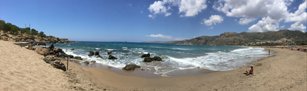 Beach at Paleochora, Crete