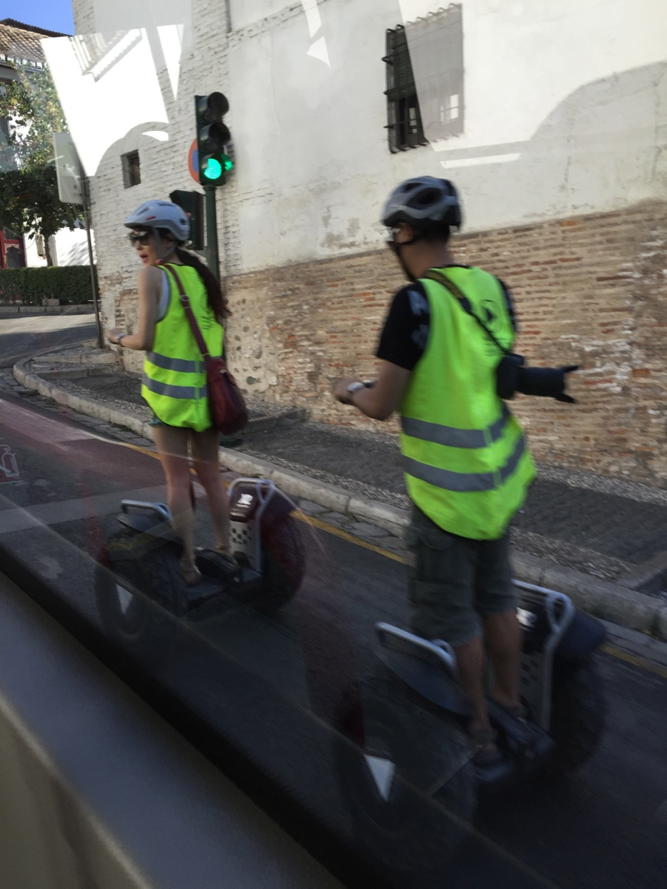 Tourists ride Segways in the ancient Sacromonte section of Granada, Spain. The Sacromonte was once off-limits to tourists.