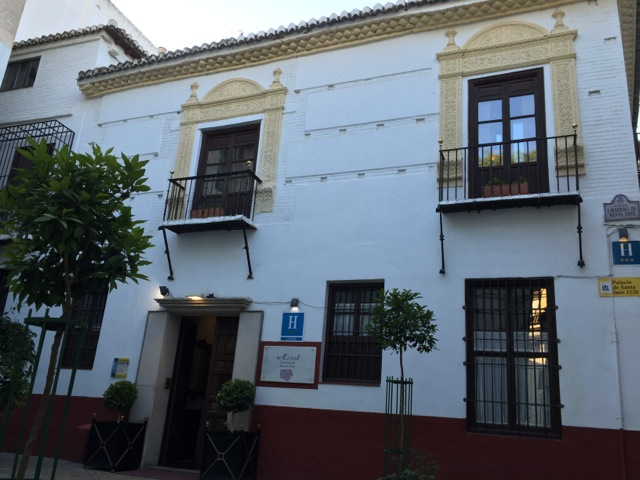 The hotel Palacio de Santa Ines, where I stayed in Granada