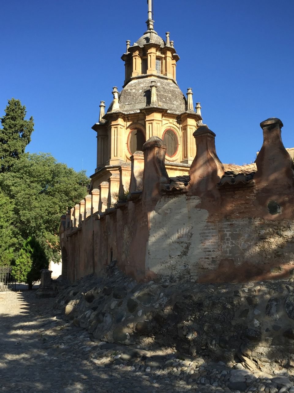 The Sacromonte Abbey in the hills above Granada.
