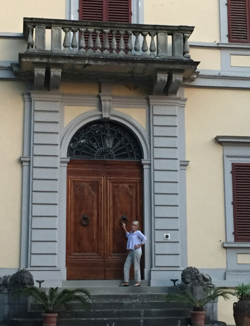 This is me standing in front of the grand entrance to the Villa Nardi, where we stayed the first three nights of our trip in Italy.