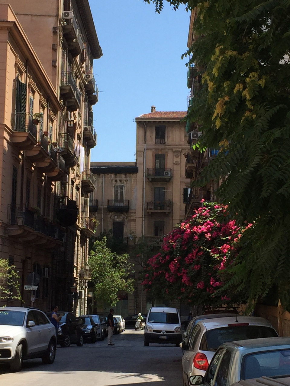 A city street in Palermo, Sicily.