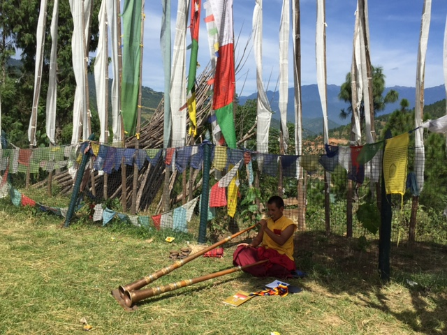 Prayer flags surround the grounds of the monastery, dedicated to the memory of the Divine Madman.