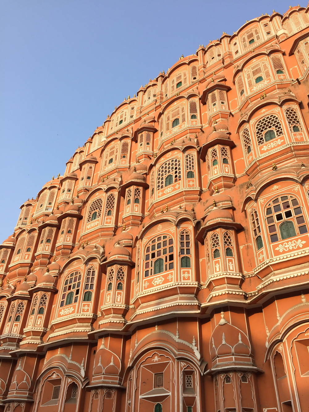 Palace of the Winds, Jaipur in late afternoon.