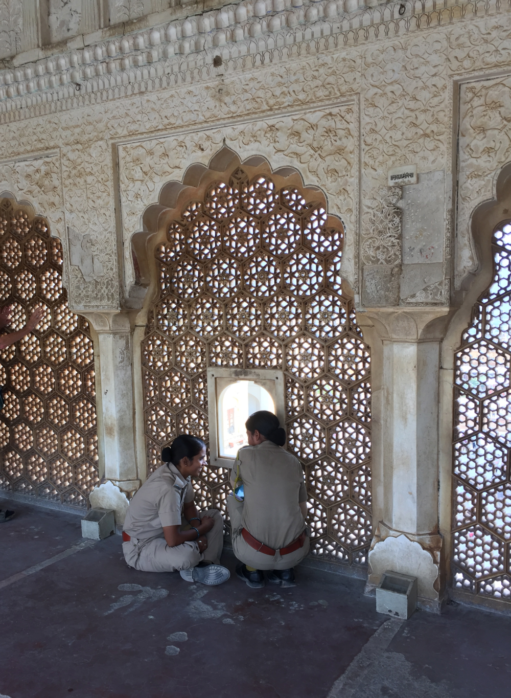 Two guards on a break at the Amber Palace, Jaipur.