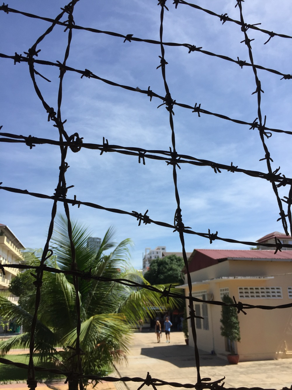 Tuol Sleng Genocide Museum, a former school that was transformed by Pol Pot and the Khmer Rouge into a torture center, where more than 20,000 people were imprisoned and tortured from 1971 to 1975.