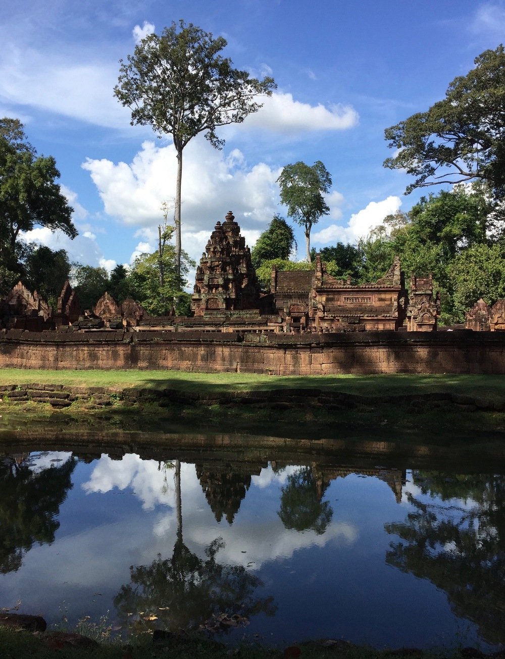 Angkor Wat and reflection.