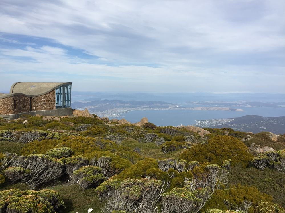 View of Hobart from Mt. Wellington, Tasmania.