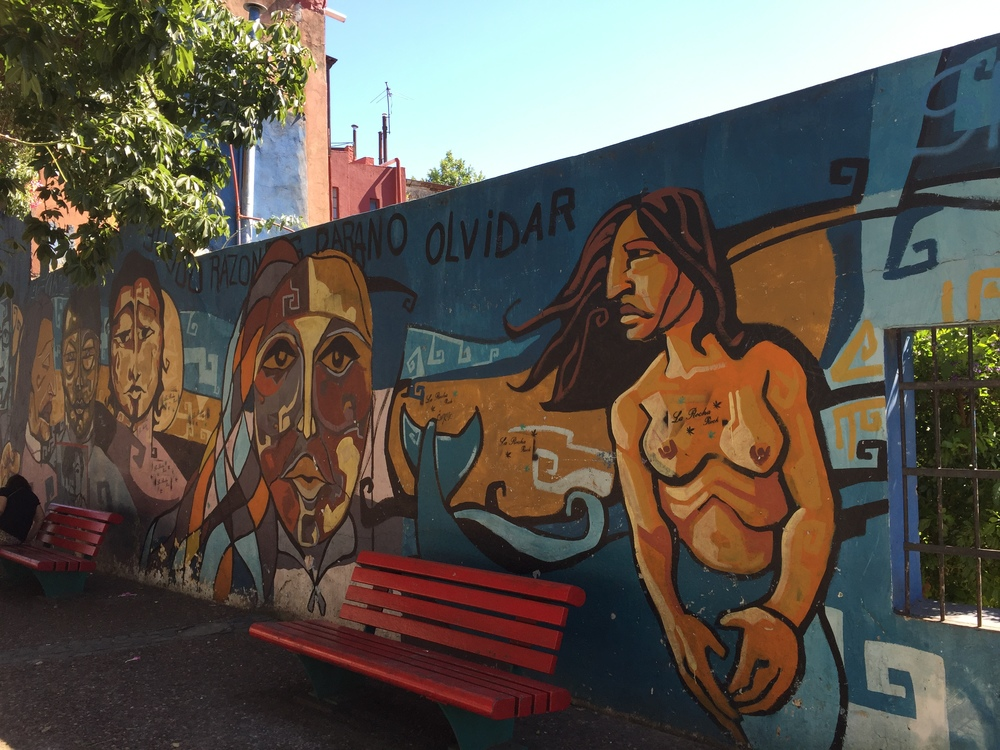 One of many murals on the streets of the La Boca District in Buenos Aires.