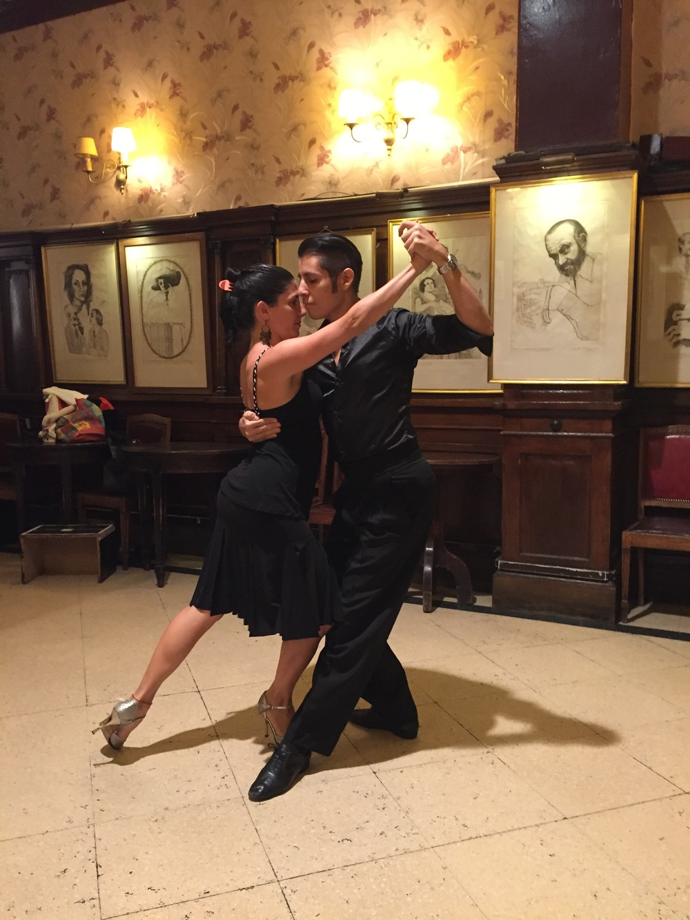 I took this photo of my tango dance instructors, who gave me my first lesson in the back rooms of the Gran Tortoni Cafe. I'm hooked!