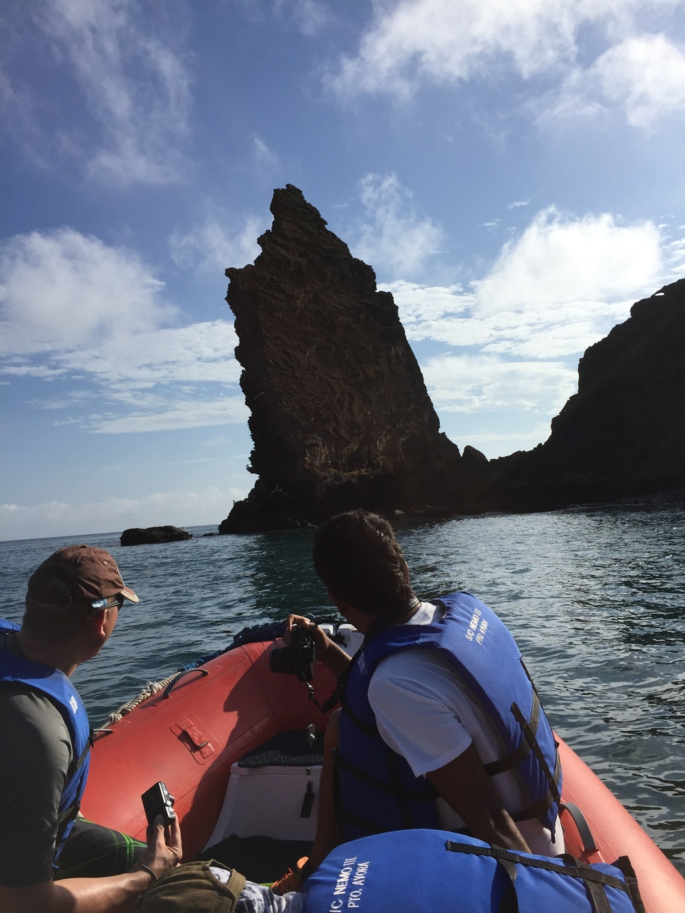 On the Zodiac, we get closer to the rock formation.