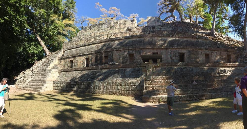 A palace at Copán, Honduras.