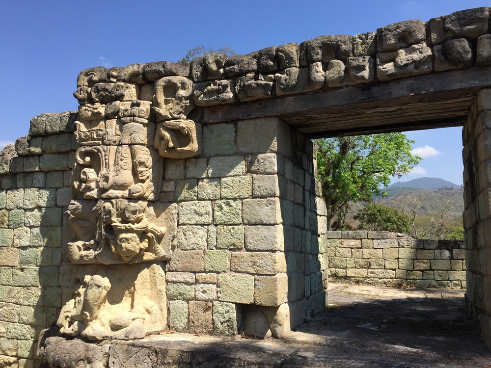 It's easy to imagine living here once upon a time in Copán and gazing out to the mountains beyond...