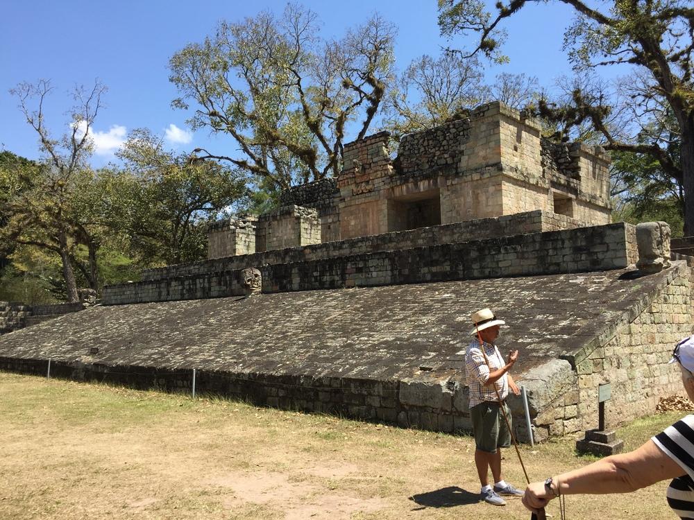 Ball court at Copán, Honduras.