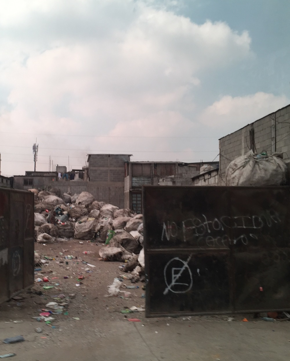An entrance to the Guatemala City Garbage Dump, where an entire community in the city's infamous Zone 3 scavenges to make a living.