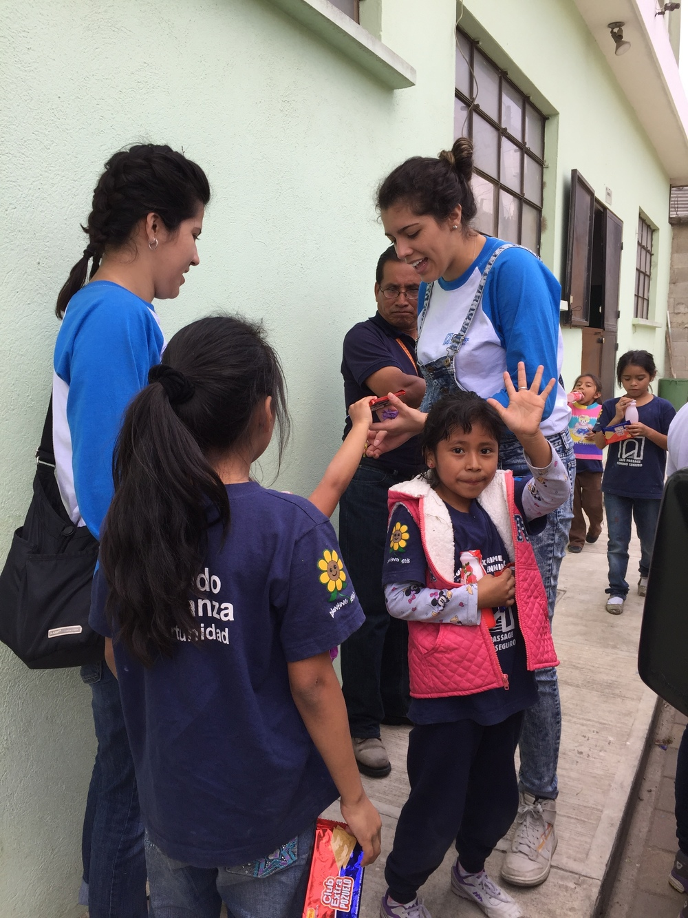 Teachers and students at the Safe Passage School in Zone 3, Guatemala City.