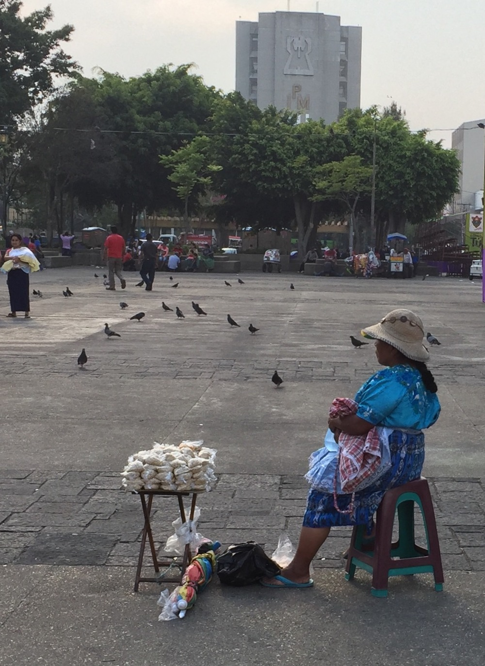 Street vendor in Central Plaza, Guatemala City.