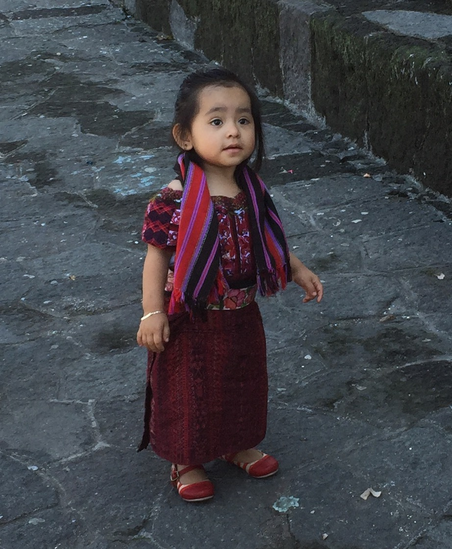 A young Mayan girl in the Solala marketplace.