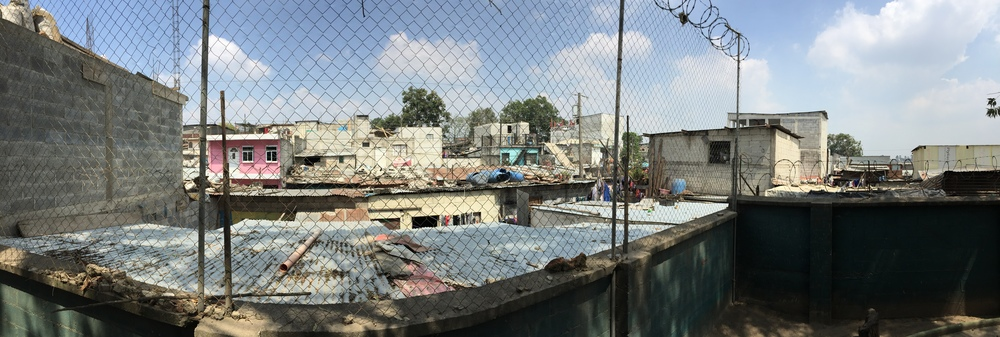 The fence around the Safe Passage school in Zone 3 in Guatemala City.