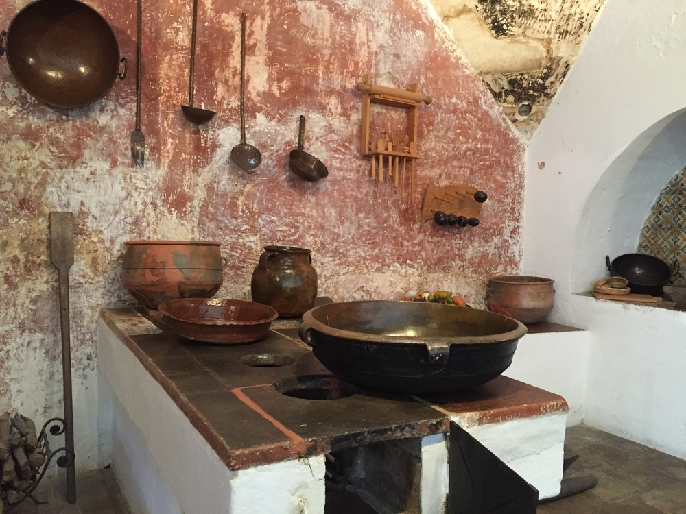 Historic Antiguan kitchen as recreated in the museum in central Antigua.