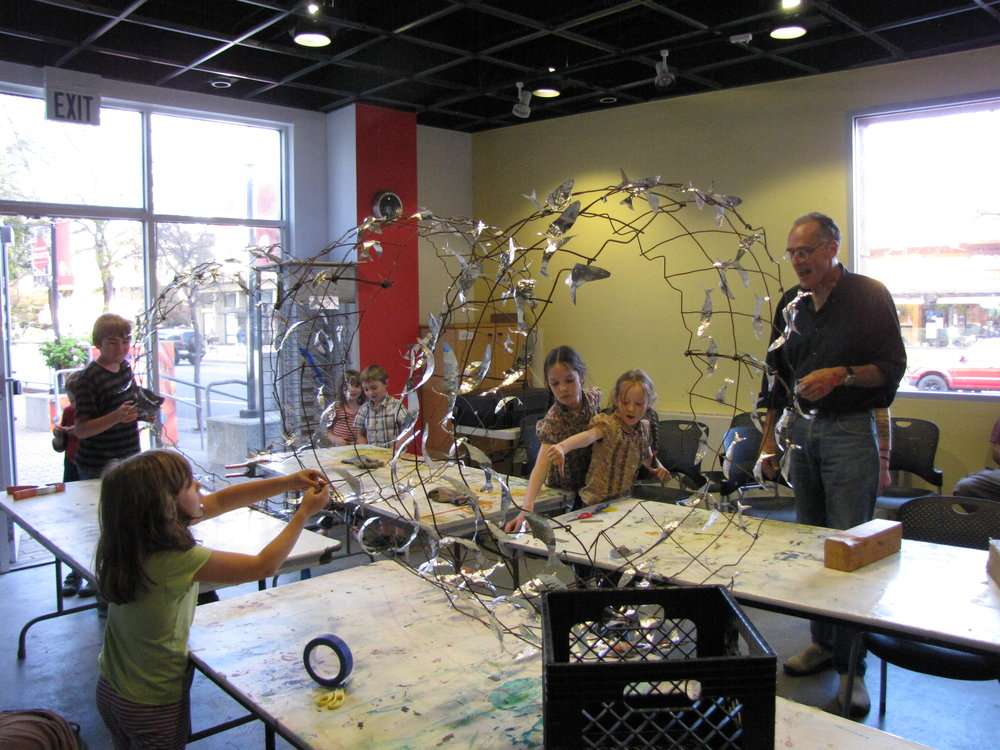 Contributed: Local artist Ed Martinez works with local school children on 'Forage Species' sculptures, art-based team projects that teach students about the Monterey Bay ecosystem.
