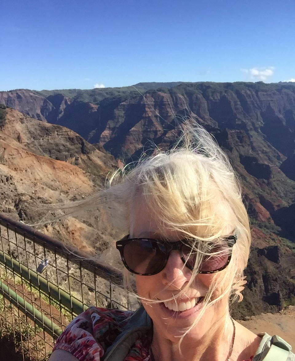 Overlooking Waimea Canyon, on the island of Kauai (August, 2016).