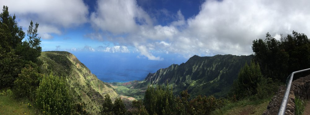 Kalalau Lookout, Kauai. One of the rainiest places on earth (but not this day on August, 2016)