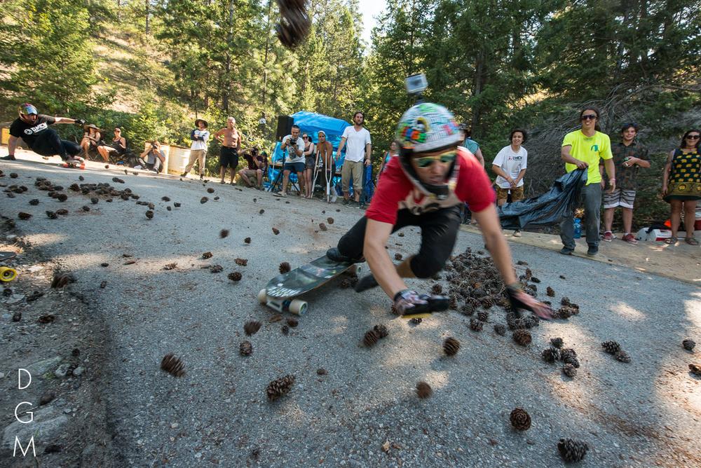 Riley Harris prepares for impact. Photo Jonah Rosenberg