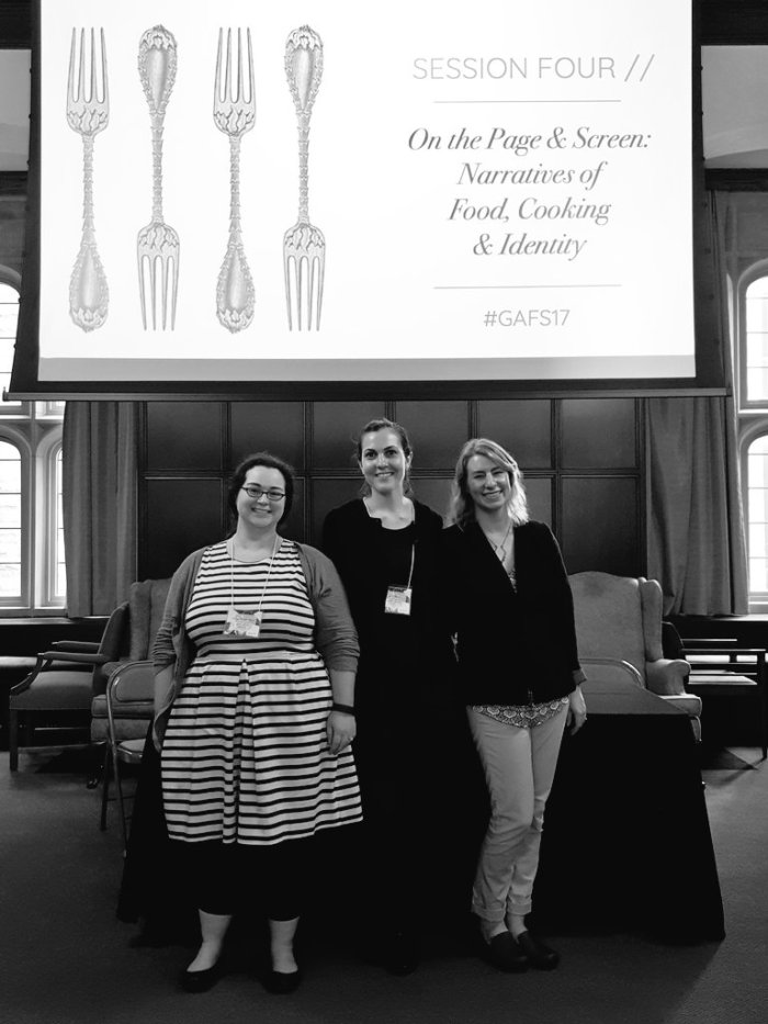 With Molly Mann and Sarah Petersen at the Graduate Association of Food Studies Conference 2017.