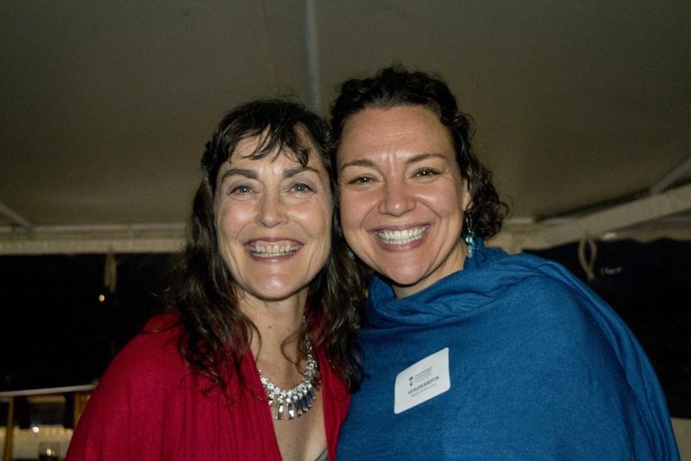 Maryanne Mattson (guest) and Kathleen Roberton (Board Member)