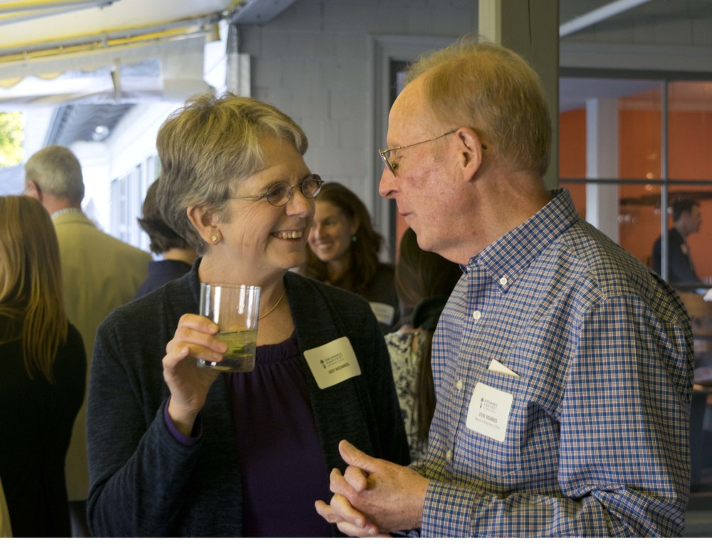 Judy Richards (guest) and Steve Richards (Board Chair)