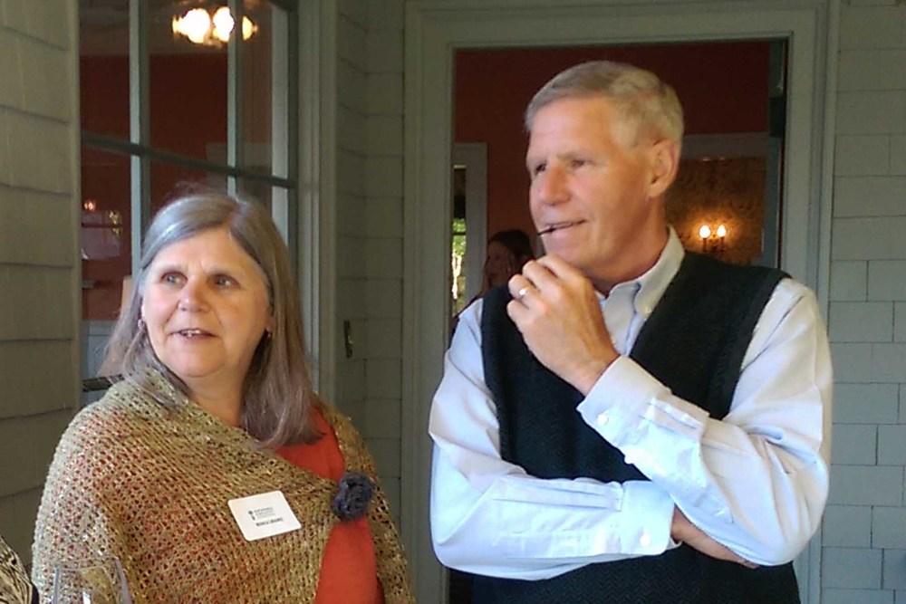 Monica Laramee (guest) and Bill Laramee (Board Member)