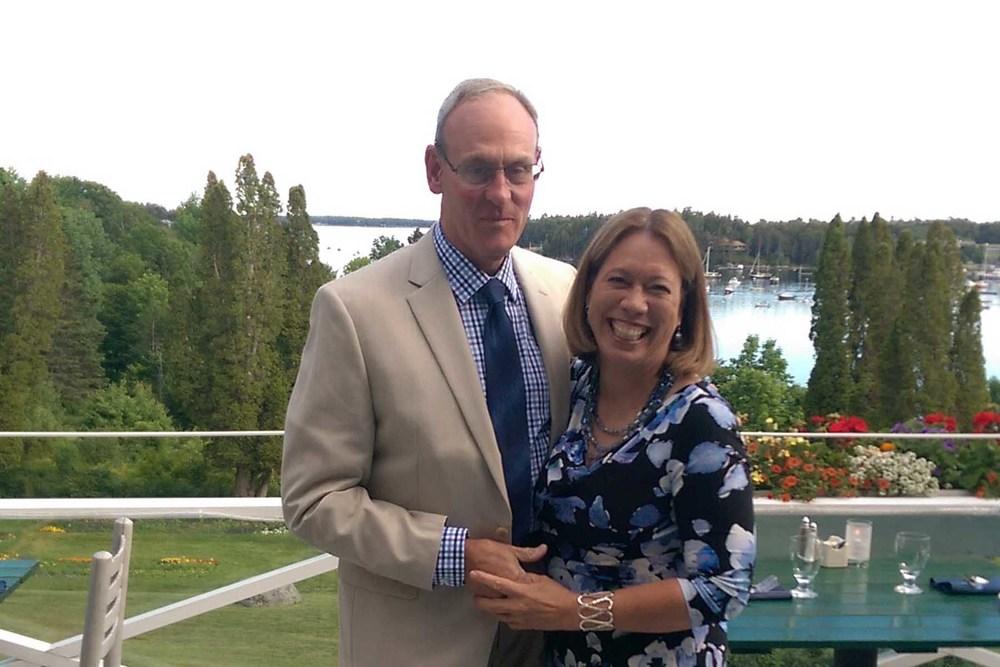 Jim Elliott (guest) and Sarah Clemens (Development Director)