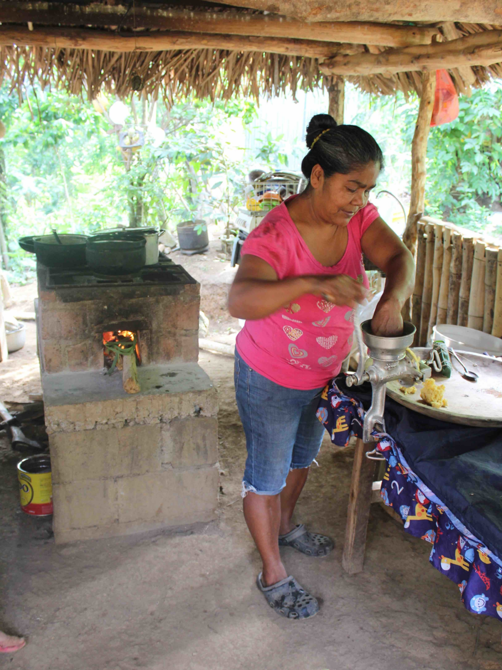 Urita prepping cornmeal for tortillas - photo by Bailey McWilliams
