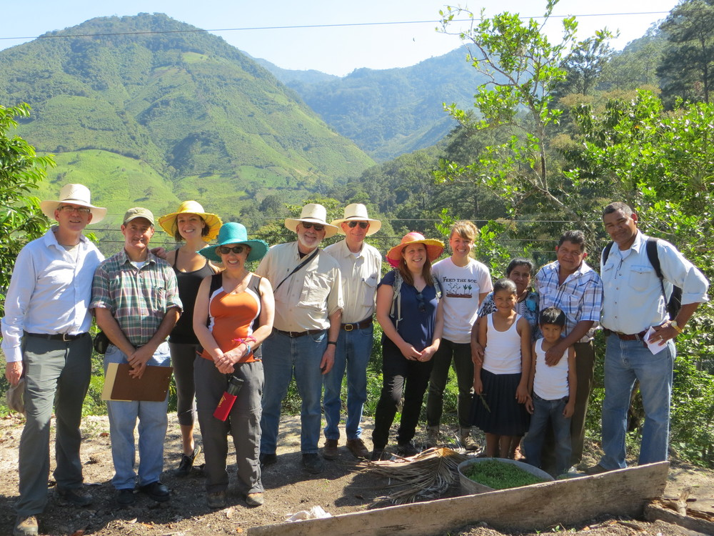 Board Members and staff visiting El Tulé, Honduras in February, 2015