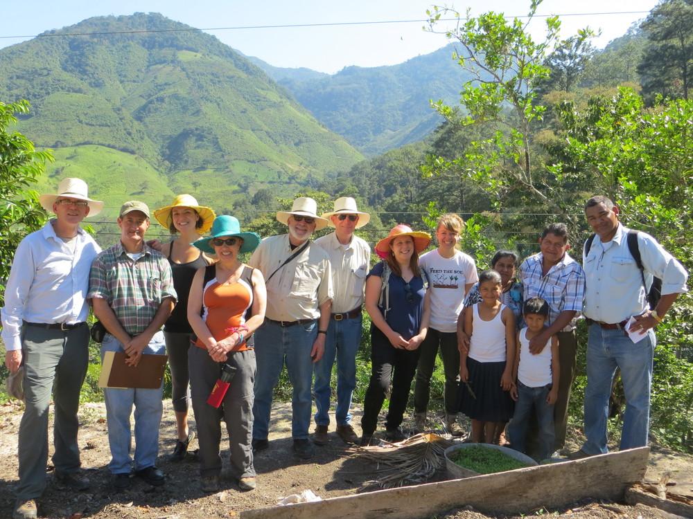 Board Members and staff visiting El Tulé, Honduras in February, 2015