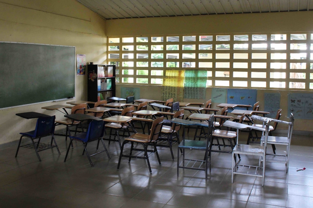 An empty classroom in Tranquilla, Panama, awaits REM study participants - photo by Bailey McWilliams