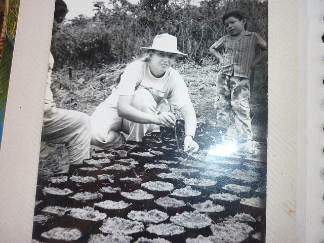 Florence Reed establishing nurseries with farmers in Santa Rita, Panama as a Peace Corps Volunteer in 1991