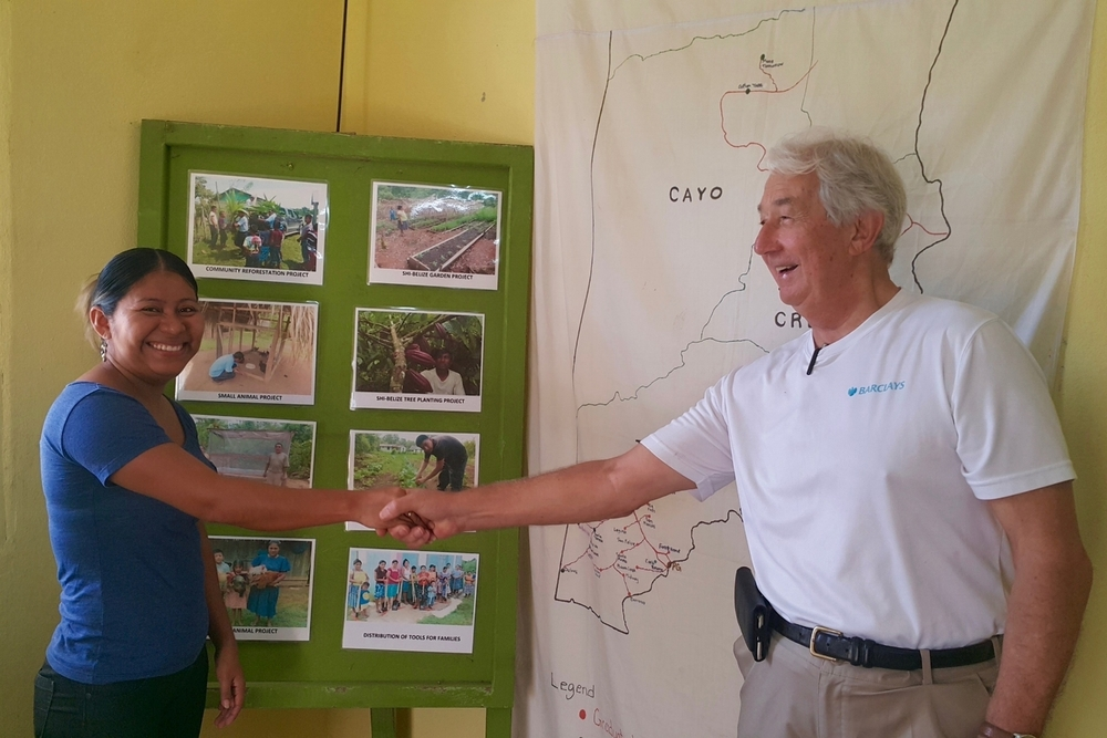 Belize Program Administrator Bibiana Paquiul and AfID volunteer Christopher were fast friends and productive colleagues.