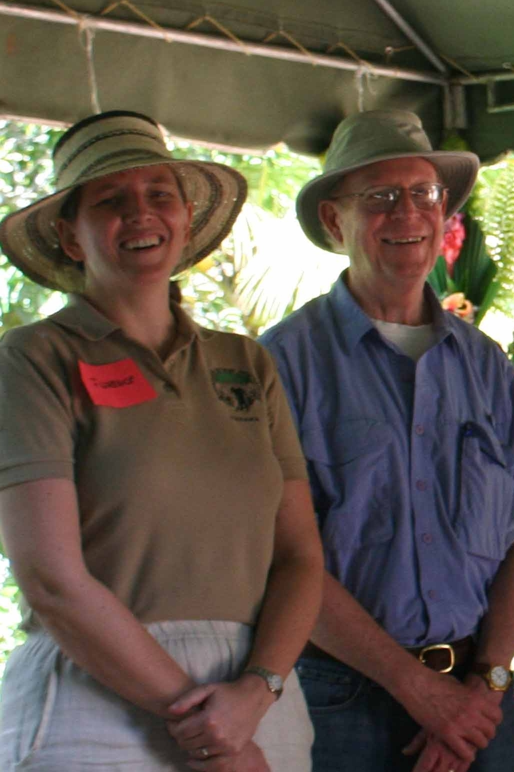 Board Chair Steve Richards with Founder and President Florence Reed in Panama in 2013.