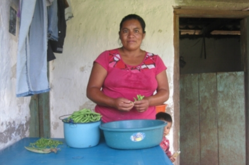 woman with beans, Honduras