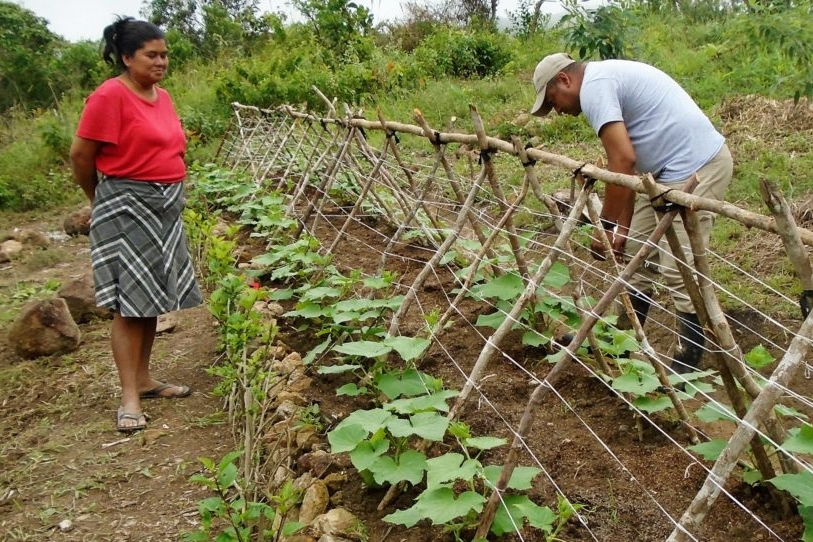 Felicia and Juan Jose, practicing regenerative agriculture